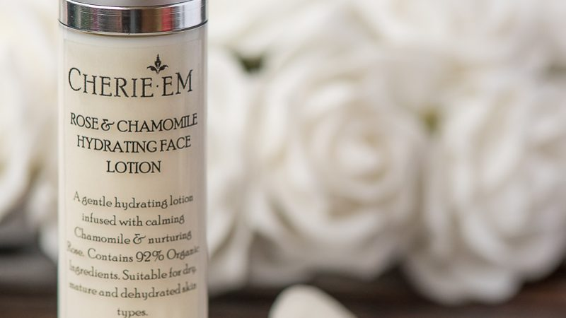 Rose and chamomile hydrating face lotion