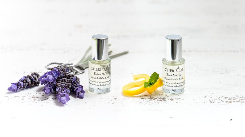 Organic essential oil aromatic roll on blends
