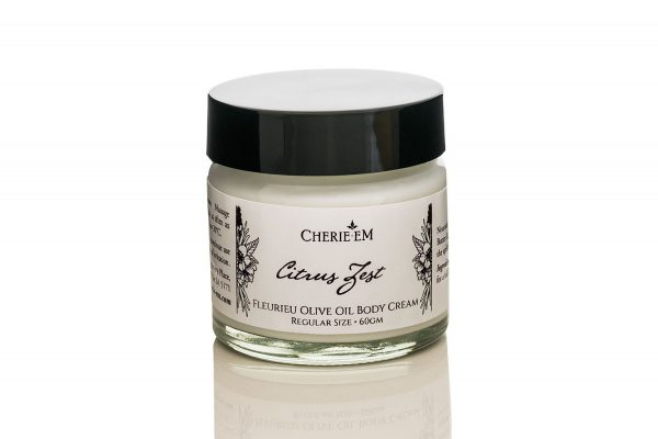 Citrus Zest body cream made with olive oil, 60gm.