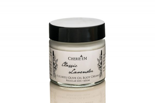 Classic Lavender body cream, made with olive oil, 60gm jar.