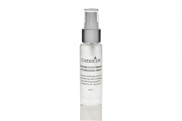 Cucumber scented, all natural, facial hydrating mist, 25ml.