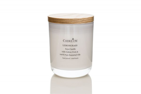 Large Lemongrass Soy based, all natural, candle.