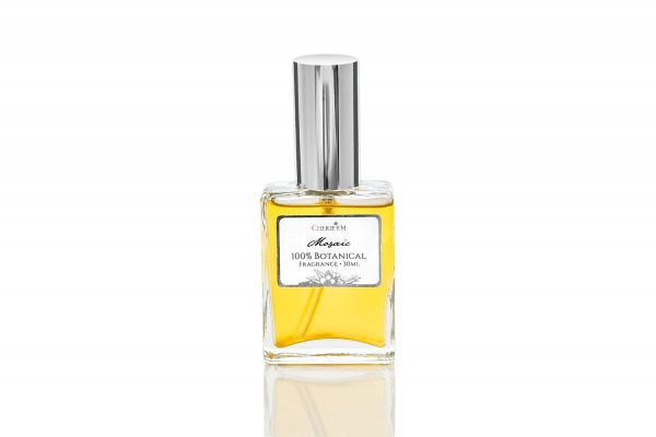 Mosaic botanical perfume, 30ml, featuring Rose, Jasmine and Neroli on an Amber base with Black Pepper and more.