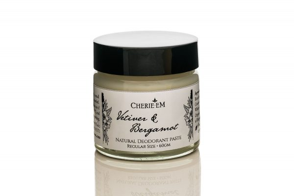 Vetiver and Bergamot all natural, no nasties or chemicals, deodorant paste.